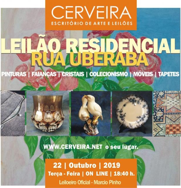 LEILÃO RESIDENCIAL RUA UBERABA - PINTURAS|FAIANÇAS|CRISTAIS|COLECIONISMO|MÓVEIS E TAPETES