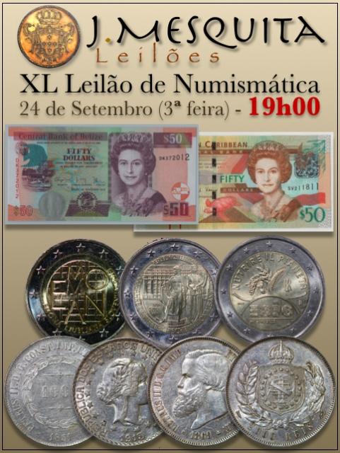 XL Leilão J.Mesquita -  Especial de Numismática