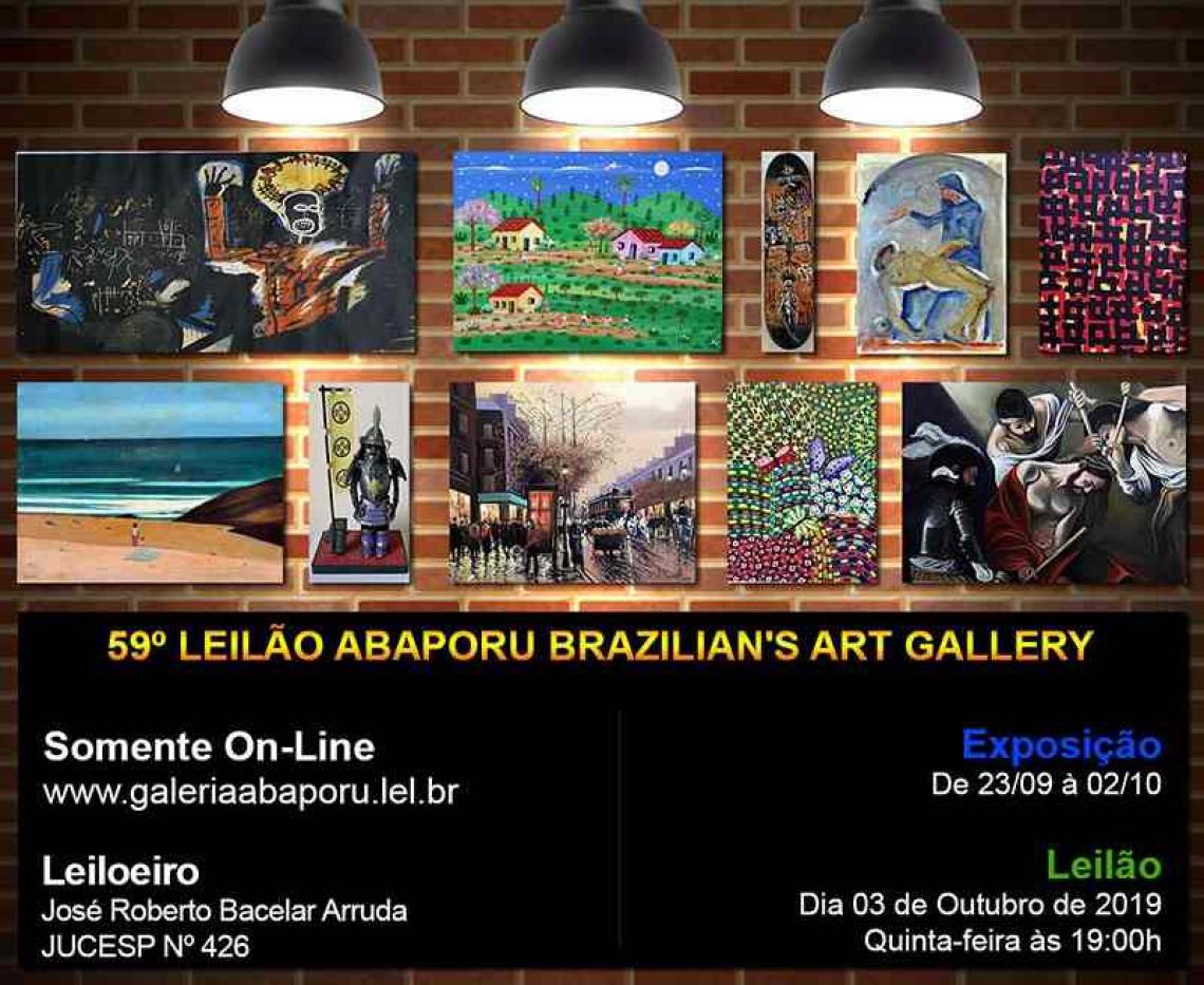 59º LEILÃO DA ABAPORU BRAZILIANS ART GALLERY