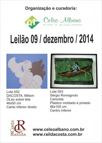 LEILÃO RESIDENCIAL - COLEÇÃO PARTICULAR - CURADORIA CELSO ALBANO