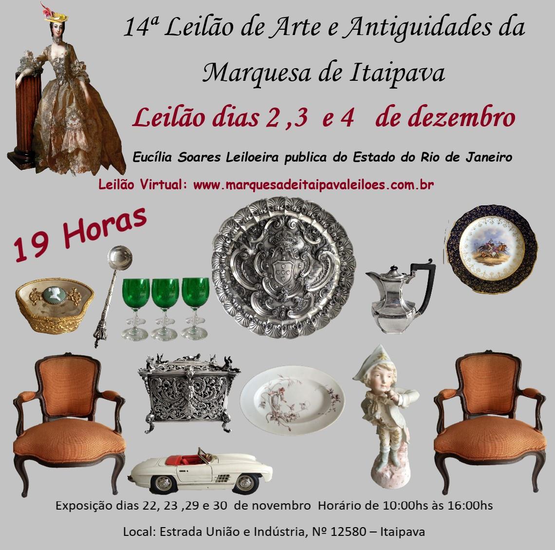 14º LEILÃO DE ARTE E ANTIGUIDADES  DA MARQUESA DE ITAIPAVA