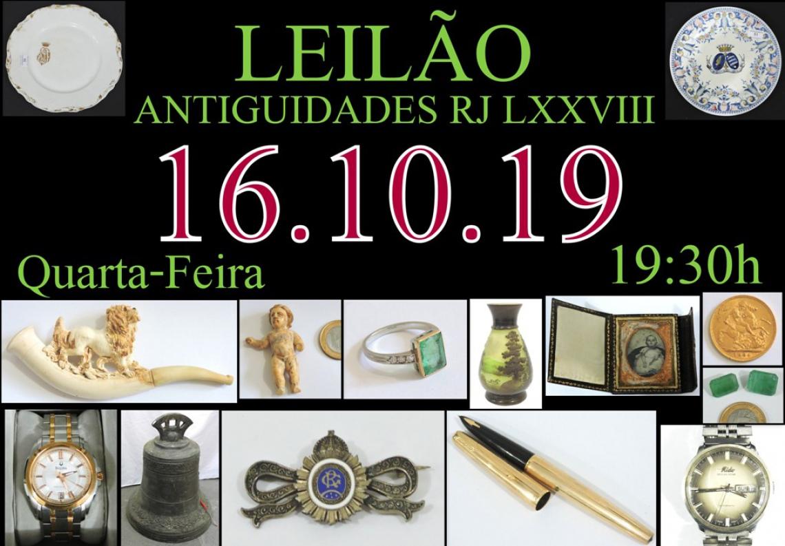 LEILÃO ANTIGUIDADES RJ LXXVIII
