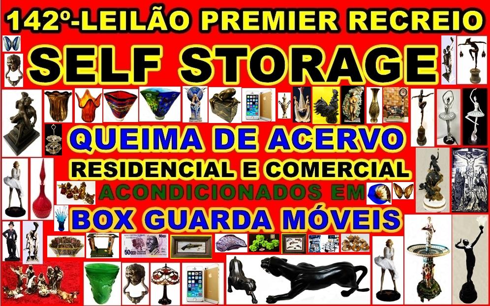 142º-LEILÃO PREMIER RECREIO-SELF STORAGE-ACERVO RESIDENCIAL E COMERCIAL EM GUARDA MOVEIS.