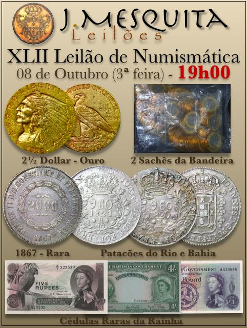XLII Leilão J.Mesquita -  Especial de Numismática