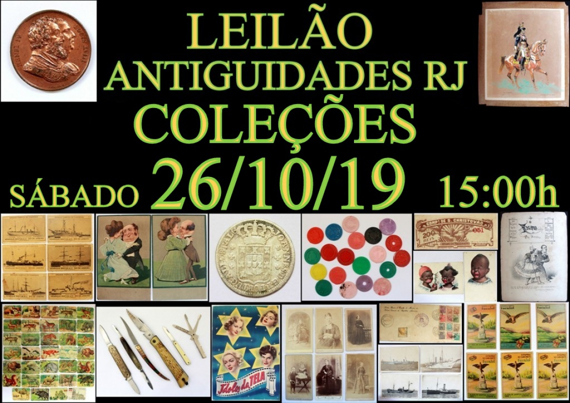 LEILÃO ANTIGUIDADES RJ COLEÇÕES