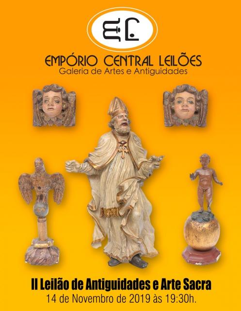 GRANDE LEILÃO DE ARTES E ANTIGUIDADES EMPÓRIO CENTRAL