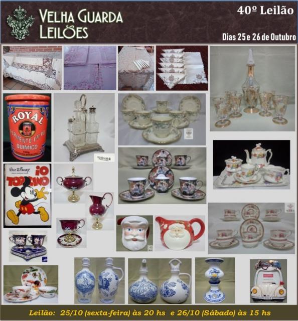 40º LEILÃO VELHA GUARDA LEILÕES - Arte, Antiguidades, Decorações e Colecionismo.