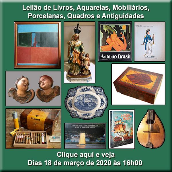 Leilão de Livros, Aquarelas, Mobiliários e Antiguidades - 28/01/2020 - 16h00