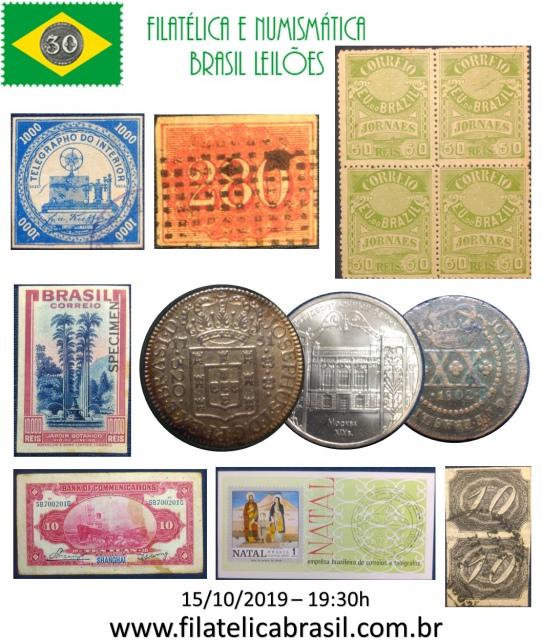 XLIII LEILÃO DE COLECIONISMO FILATÉLICA E NUMISMÁTICA BRASIL