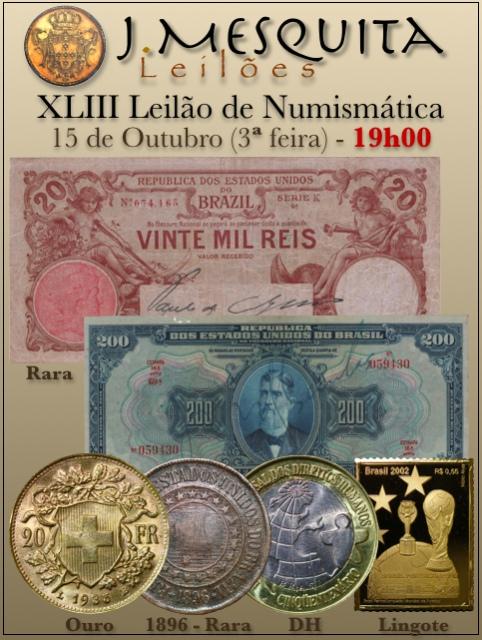 XLIII Leilão J.Mesquita -  Especial de Numismática
