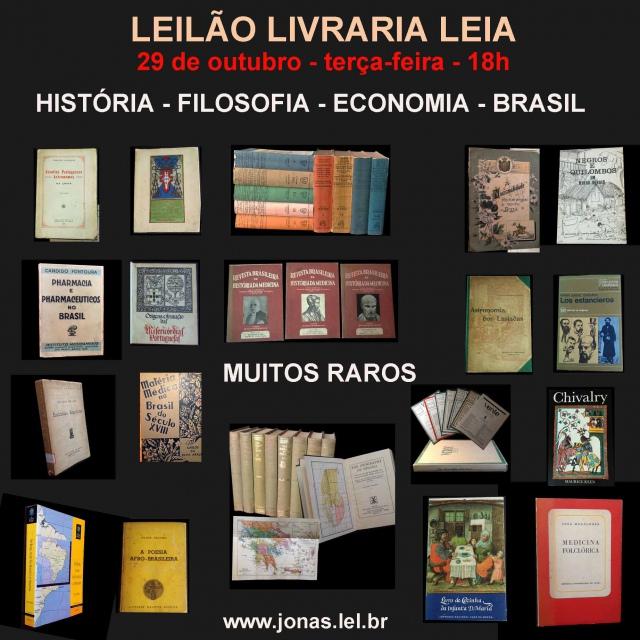 LEILÃO DE LIVROS DE FILOSOFIA, HISTÓRIA,  ECONOMIA, BRASIL E MUITOS RAROS