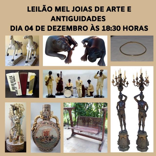 LEILÃO MEL JOIAS DE ARTES E ANTIGUIDADES