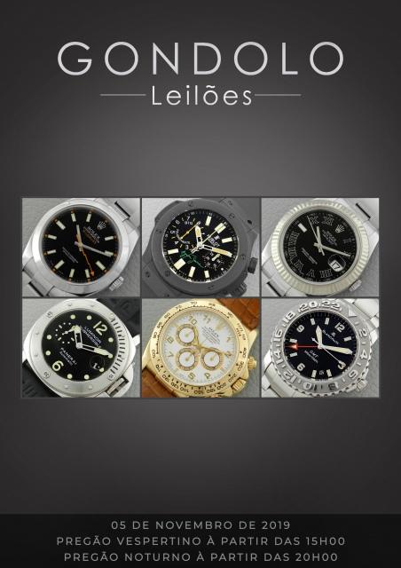 Leilão Gondolo - Relógios - Canetas - Alta relojoaria - Novembro 2019