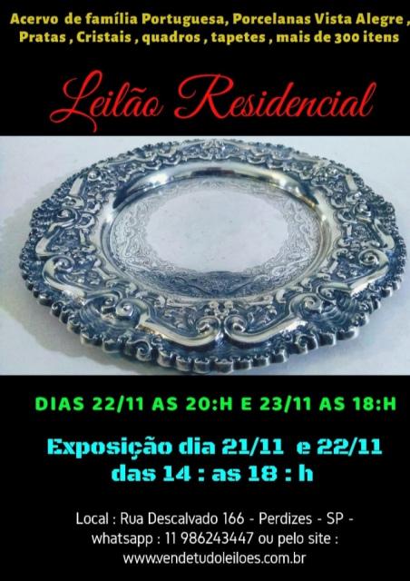 Grande Leilão Residencial  - Acervo de Família Portuguesa