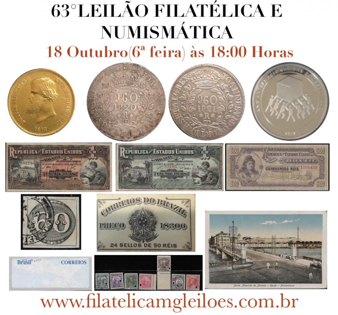 63º Leilão de Filatelia e Numismática