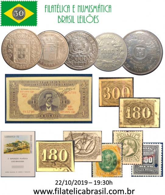 XLIV LEILÃO DE COLECIONISMO FILATÉLICA E NUMISMÁTICA BRASIL