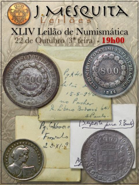 XLIV Leilão J.Mesquita -  Especial de Numismática