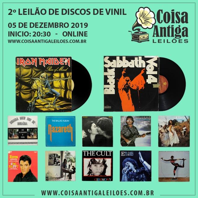 2º Leilão de Discos de Vinil - Rock, Pop, Samba, MPB