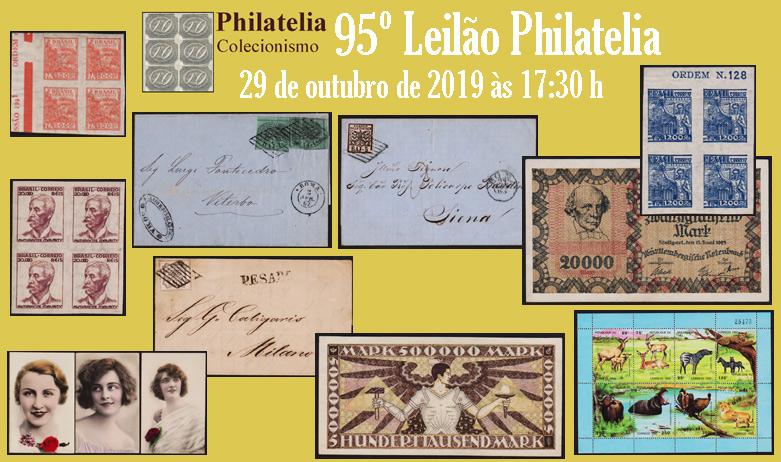 95º Leilão de Filatelia e Numismática - Philatelia Selos e Moedas