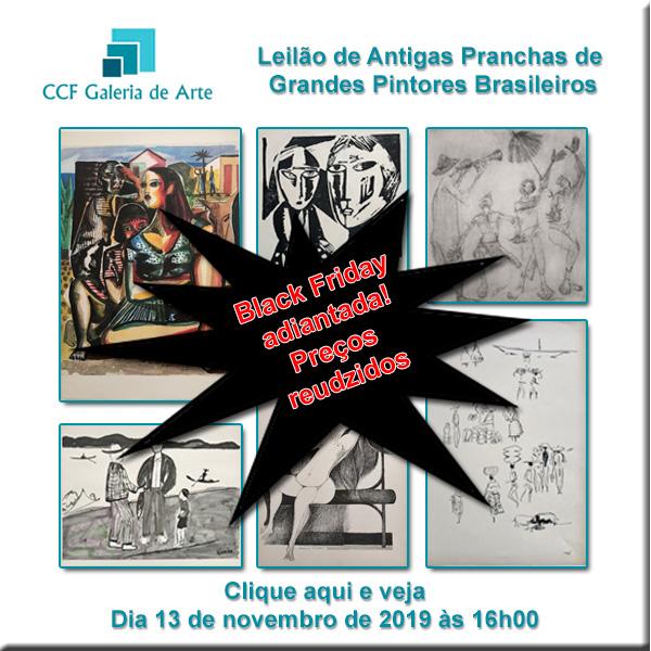 Leilão de Antigas Pranchas de Grandes Pintores Brasileiros - PREÇOS REDUZIDOS - 13/11/2019 - 16h00