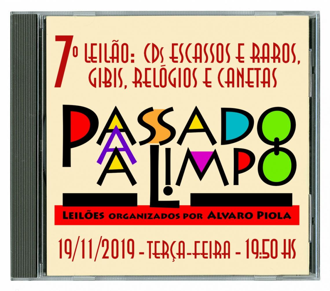 7º LEILÃO PASSADO A LIMPO: COLEÇÃO DE CDs ESCASSOS E RAROS, GIBIS, RELÓGIOS E CANETAS