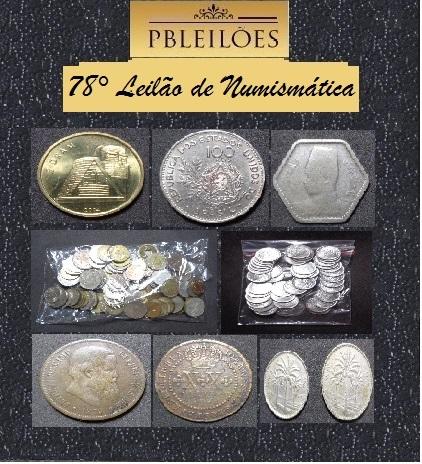 78º Leilão de Numismática Pbleilões