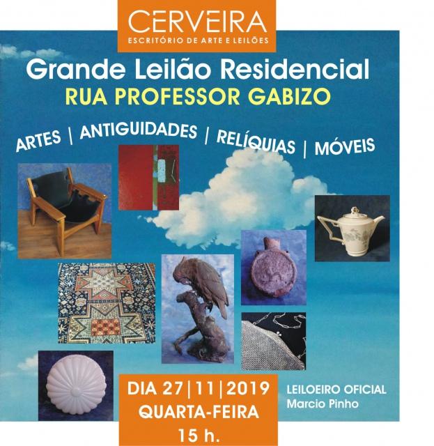 GRANDE LEILÃO RESIDENCIAL RUA PROF. GABIZO | ARTES, ANTIGUIDADES, RELÍQUIAS, CURIOSIDADES E MÓVEIS