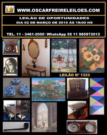 LEILÃO RESIDENCIAL - ARTE - LIVROS RAROS - OBJETOS E ANTIGUIDADES -  (11) 3461-2050