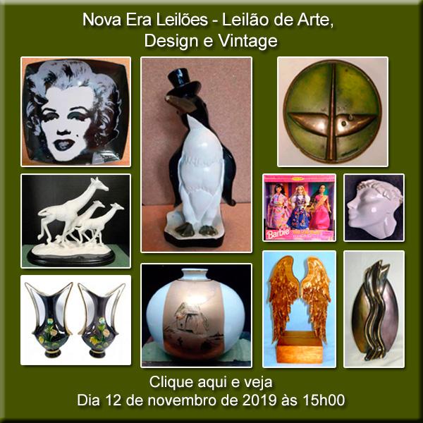 LEILÃO DE DESIGN E VINTAGE - 12/11/2019 ÀS 15H