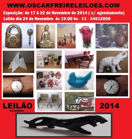 LEILÃO DE ARTE E ANTIGUIDADES NOVEMBRO 2014