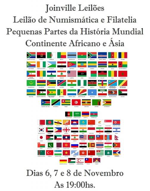 Leilão de Numismática e Filatelia Pequenas Partes da História Mundial.