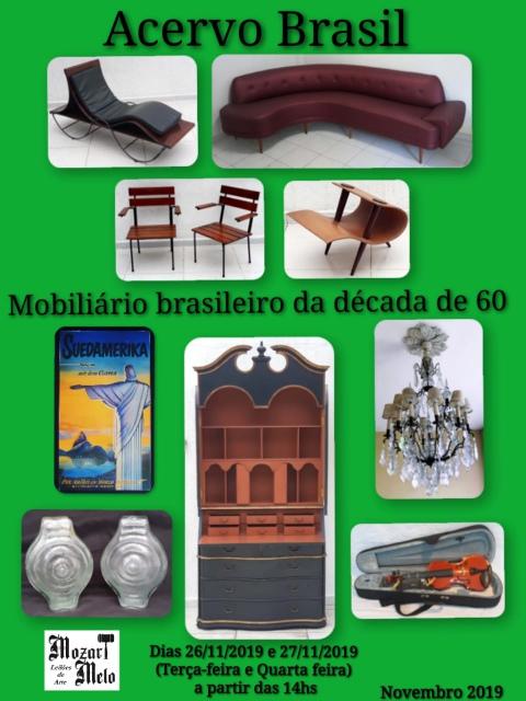 Leilão  Acervo Brasil - Mobiliário anos 60 - Novembro de 2019