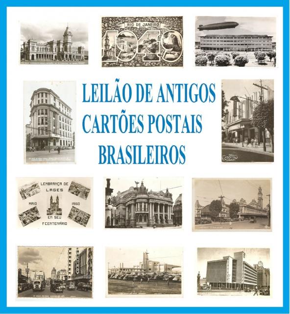 LEILÃO ANTIGOS CARTÕES POSTAIS BRASILEIROS