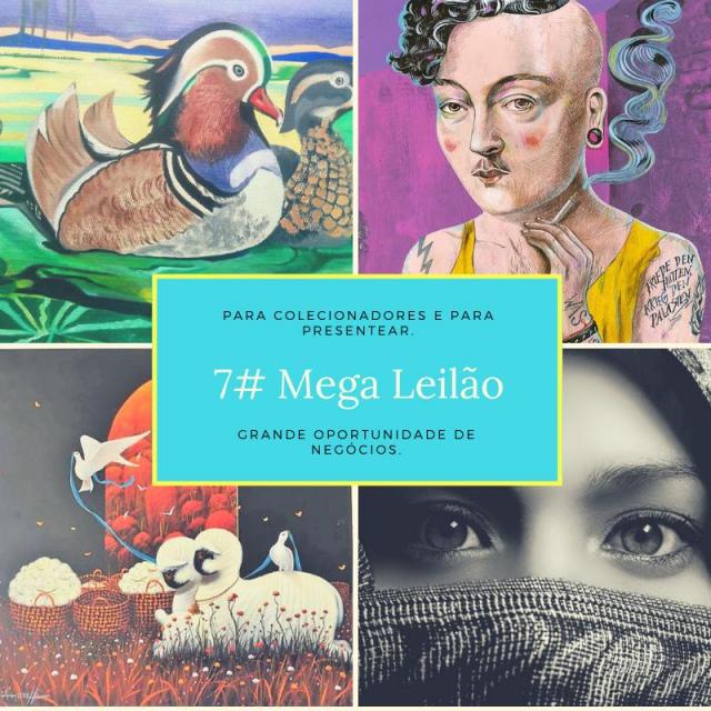 7 MEGA LEILÃO ARTISTAS EXCLUSIVOS, STREET ART, CONTEMPORÂNEO E OBJETOS ELETRÔNICOS.