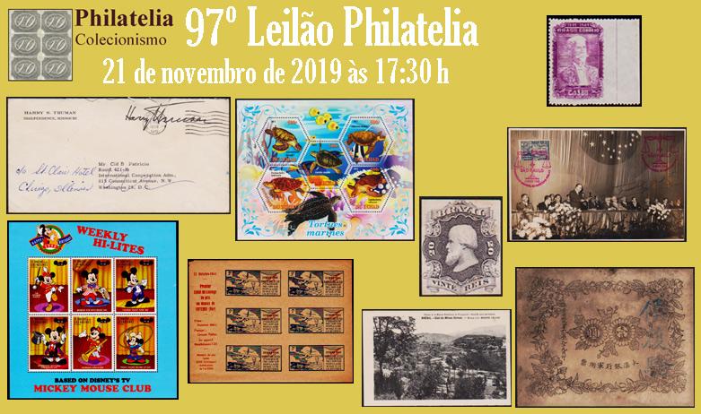 97º Leilão de Filatelia e Numismática - Philatelia Selos e Moedas