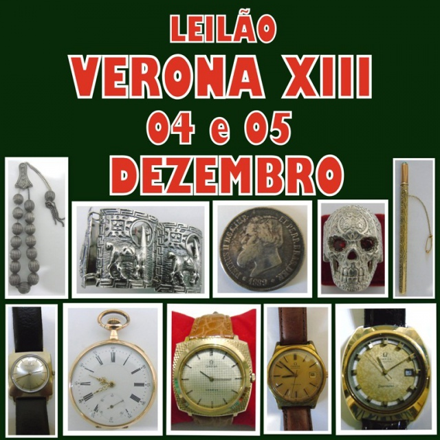 XIII LEILÃO VERONA ANTIGUIDADES E COLECIONISMO