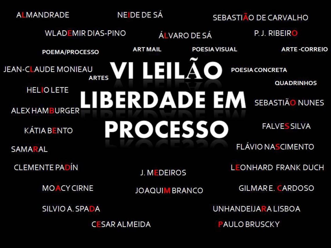 6º LEILÃO LIBERDADE EM PROCESSO- POEMA/ PROCESSO - ARTE POSTAL - POESIA VISUAL - PERIÓDICOS & OUTROS