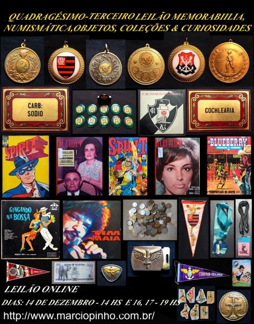 Quadragésimo Terceiro Leilão Memorabilia, Numismática, Objetos, Coleções e Curiosidades