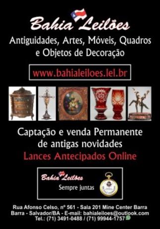 32º Leilão de ANTIGUIDADES e ARTES da SÉCULO PASSADO