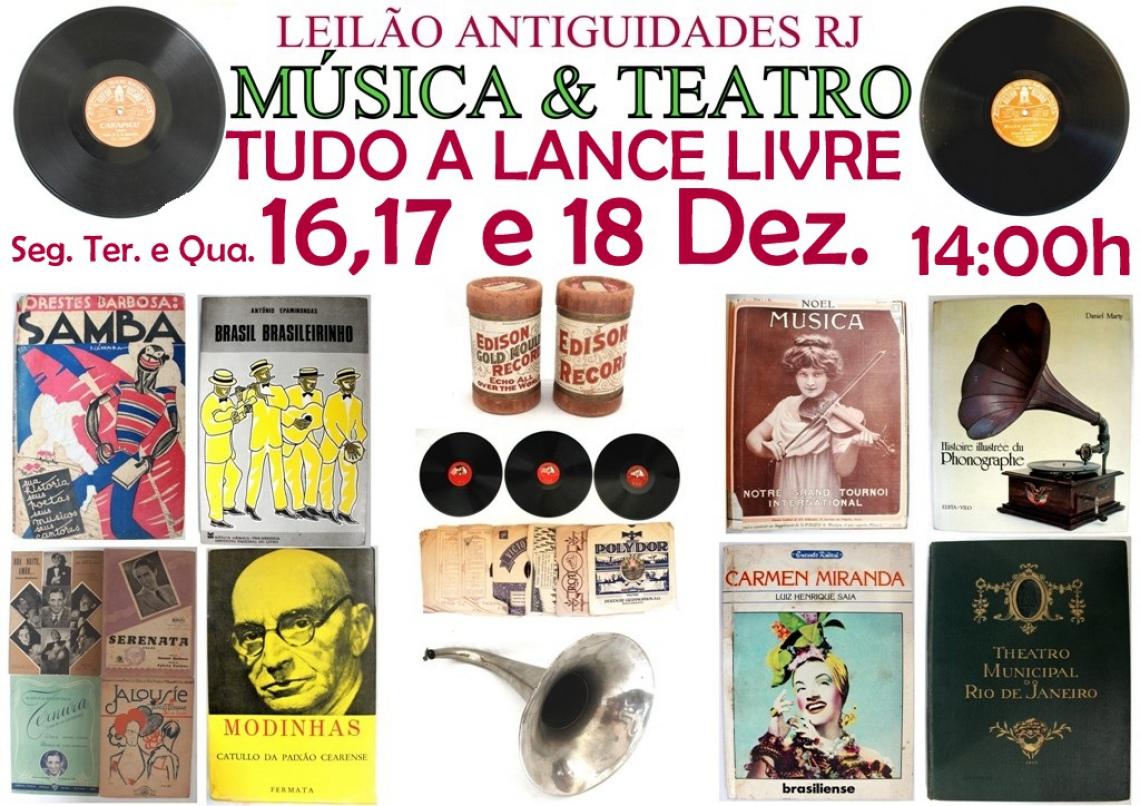 LEILÃO ANTIGUIDADES RJ MÚSICA & TEATRO