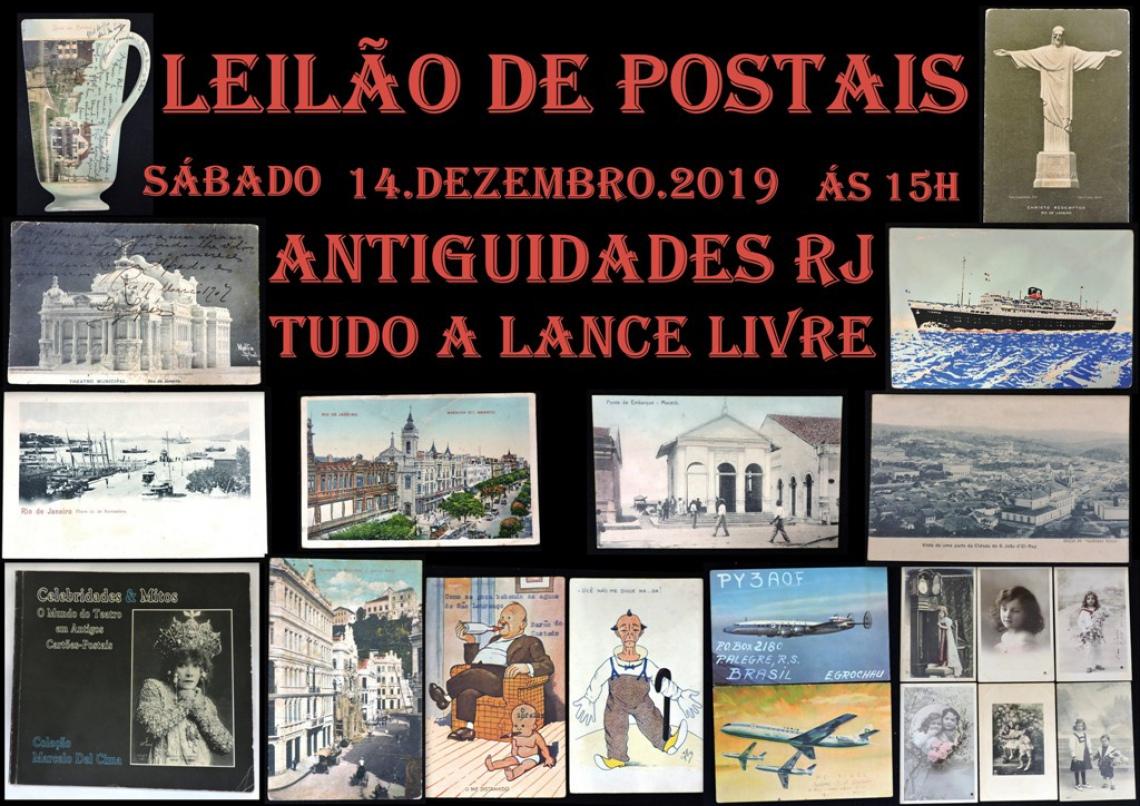 LEILÃO DE POSTAIS ANTIGUIDADES RJ