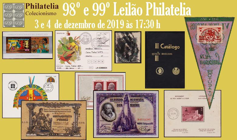 98º e 99º Leilão de Filatelia e Numismática - Philatelia Selos e Moedas