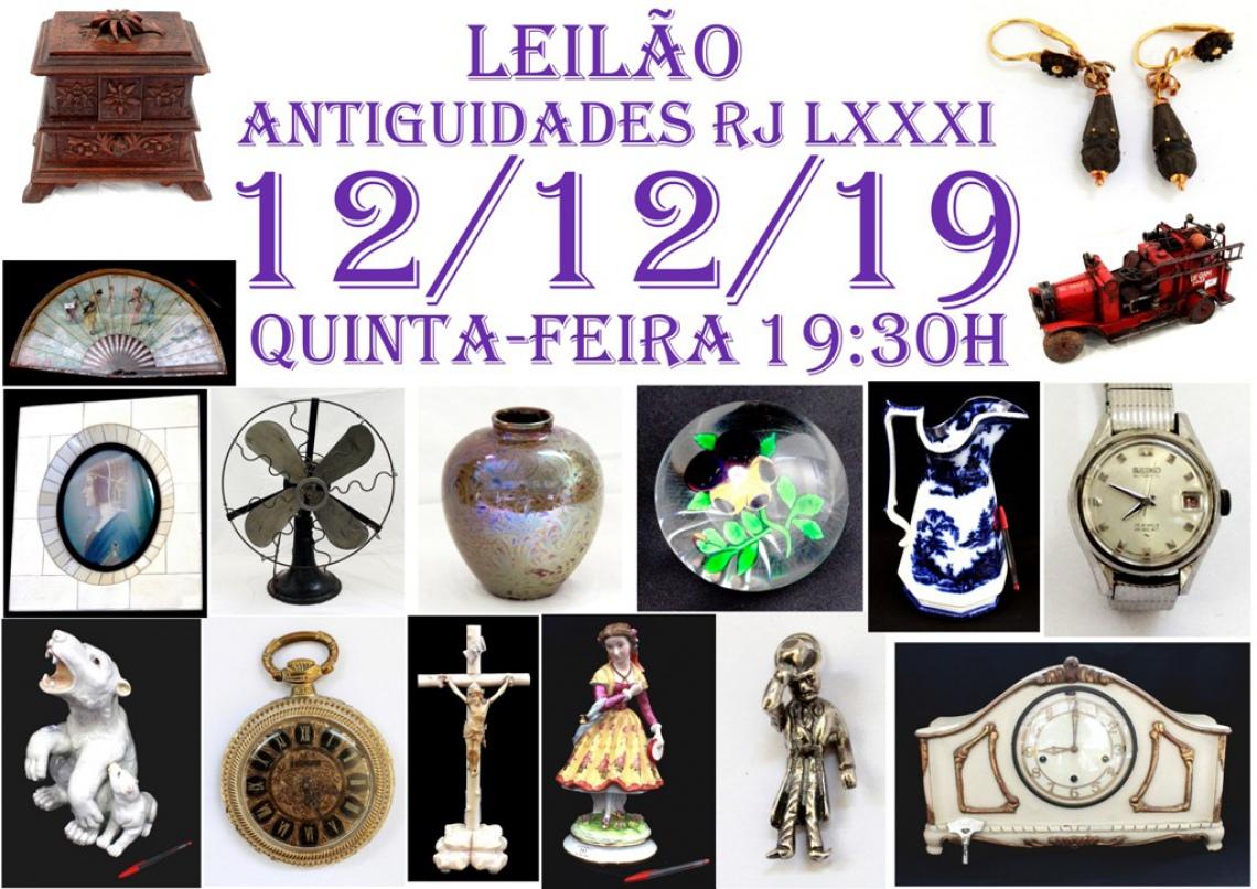 LEILÃO ANTIGUIDADES RJ LXXXI