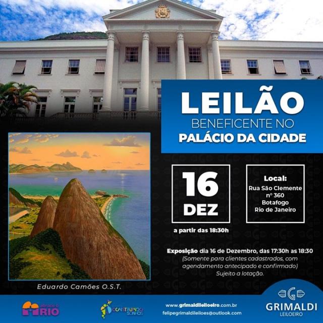 LEILÃO BENEFICENTE NO PALÁCIO DA CIDADE