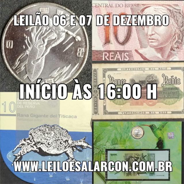 LEILÃO DE CÉDULAS E MOEDAS - FAMÍLIA GONZALES