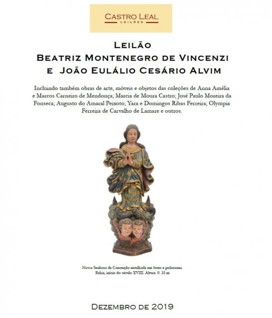 LEILÃO BEATRIZ MONTENEGRO DE VINCENZI E JOÃO EULÁLIO CESÁRIO ALVIM