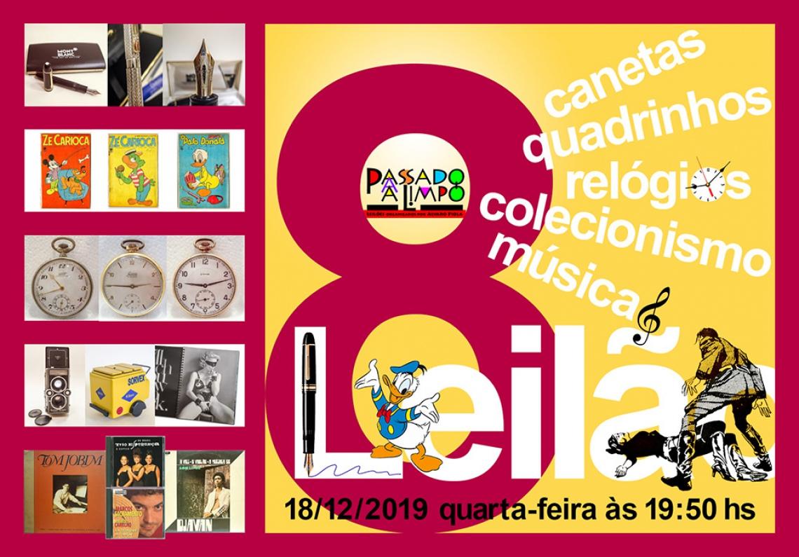8º LEILÃO PASSADO A LIMPO: CANETAS, QUADRINHOS, RELÓGIOS,COLECIONISMO & MÚSICA EM VINIL E CD