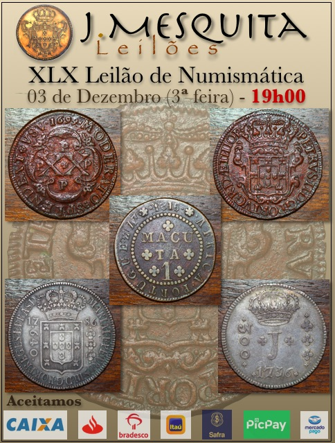 L Leilão J.Mesquita - Especial de Numismática