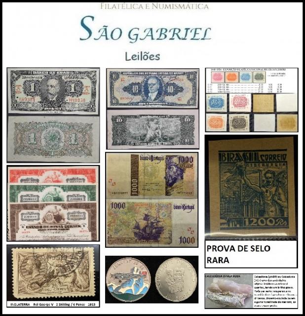 65º LEILÃO SÃO GABRIEL DE SELOS - MOEDAS E CEDULAS  UM SHOW DE COLECIONISMO!