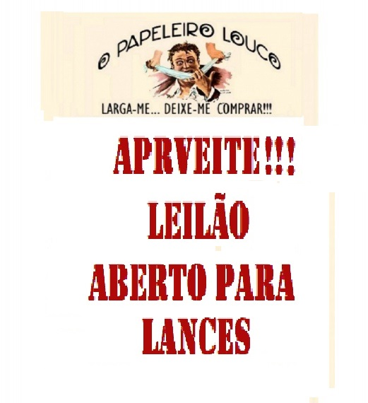 XIX LEILÃO O PAPELEIRO LOUCO